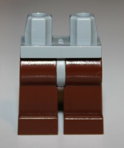 Lego Reddish Brown Legs w// Light Bluish Gray Hips NEW
