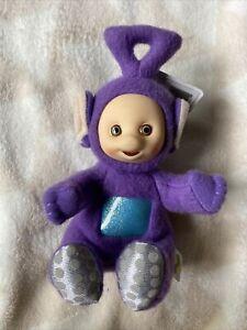 "Vintage Playskool Teletubbies 6"" Tinky Winky Doll Beanie 1998 New With Tag"