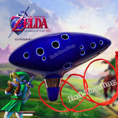 Legend of Zelda Ocarina of Time 12 Hole Ceramic Alto C Flute Perfect X-mas  Gift 608651080343   eBay