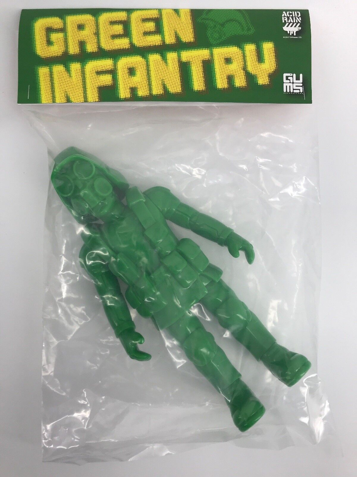 Green Infantry Acid Rain Gums Productions Army Man Figure 2018 Designer Con   40