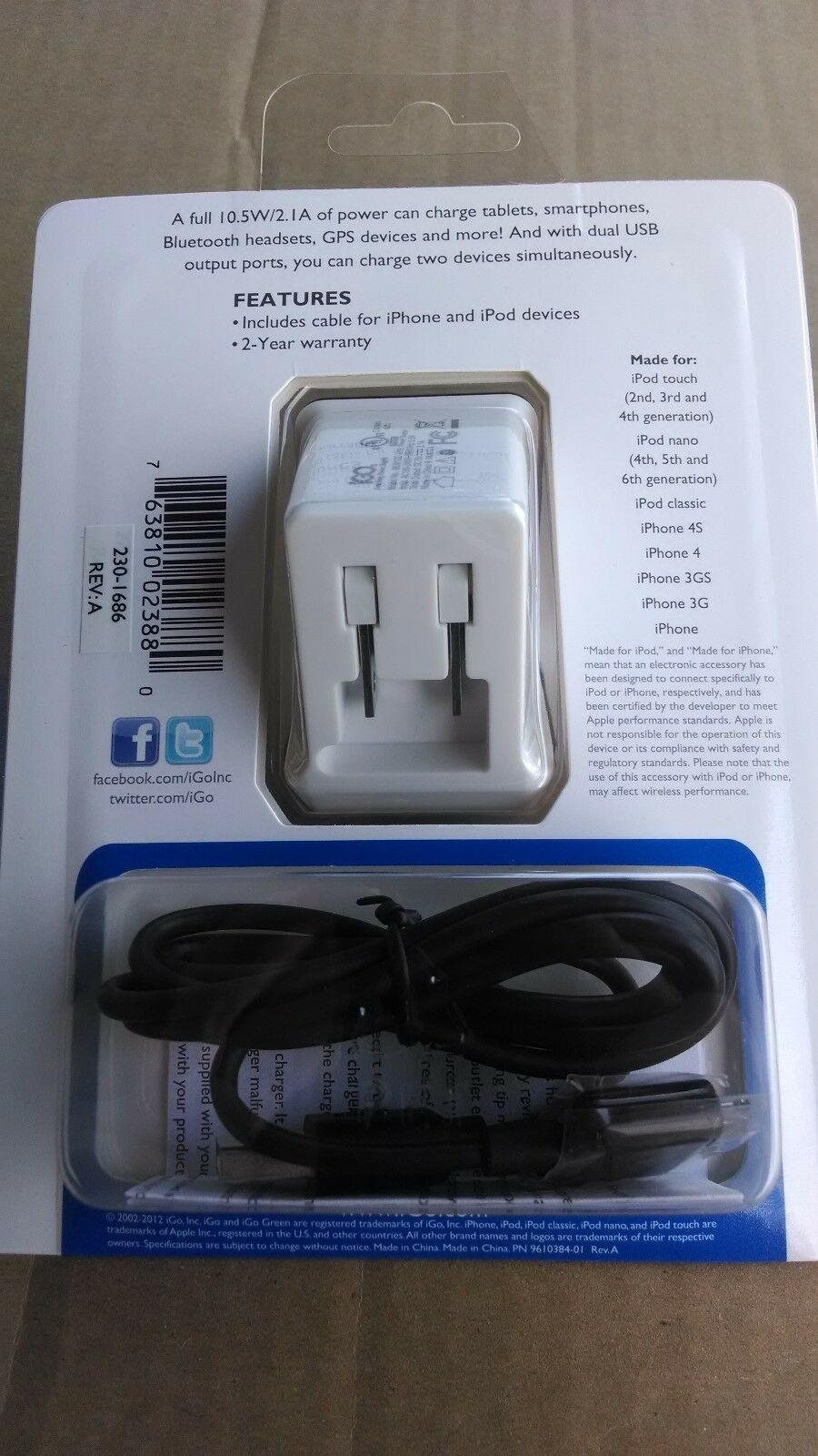 Igo Microjuice Dual Usb Universal Smartphone Wall Charger Ipod Full Compliance Battery Norton Secured Powered By Verisign