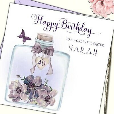 Personalised Handmade Birthday Card Mum Wife Sister Best Friend 30th 40th 50th