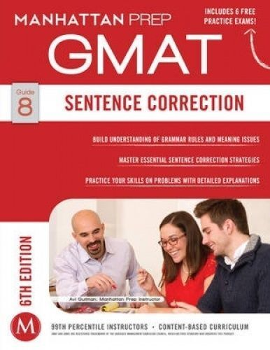 1 of 1 - Sentence Correction GMAT Strategy Guide by Manhattan Prep (Paperback, 2014)