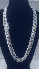 """Miami Cuban Link Chain Sterling Silver , 26""""19.50 mm. 585 Grams"""