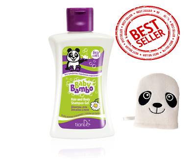 Beautiful Tiande Baby Natural Eco Line Baby Bambo Hair Shampoo-gel & Baby Cotton Sponge