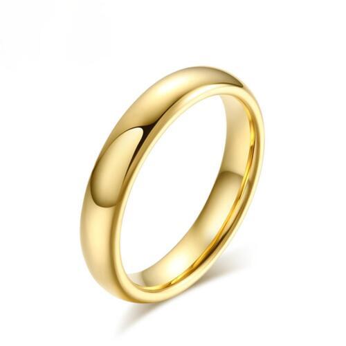Anillo de compromiso boda 999er Gold 24k dorado Wolfram señora caballero r2860l