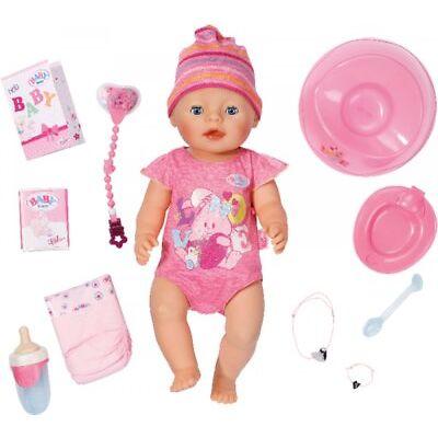 Zapf 822005 BABY born® Interactive Puppe Mädchen, Babypuppe mit Zubehör
