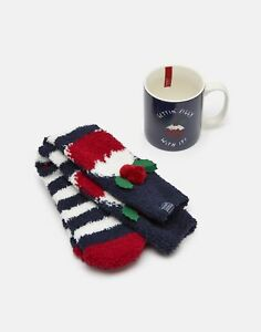 Joules Festive Fluffy & Mug Gift Set ONE in Gettin Figgy With It in One Size