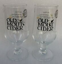 2 X Stunning OLD MOUT CIDER Stemmed Pint CE NEW Home Bar Pub