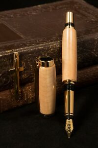 Antique-1697-Authenticated-St-Mary-039-s-Church-Whitby-England-Fountain-Pen