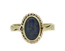 alter schöner Jugendstil Ring - 375er / 9ct Gold - Opal Doublette - England