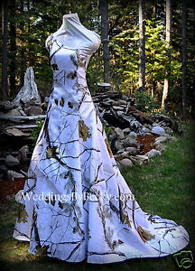 Image Is Loading NEW Camo Wedding Gown REALTREE Or MOSSY OAK