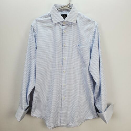 Neiman Marcus 15.5 Trim Fit Baby Blue Long Sleeve