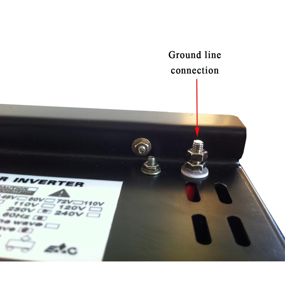 3000 Watt Car Power Inverter 12 24 Volt Dc To 120 220 Ac Pure 12v 230v Electronic Circuits Diagram Sine Wave Solar Ebay