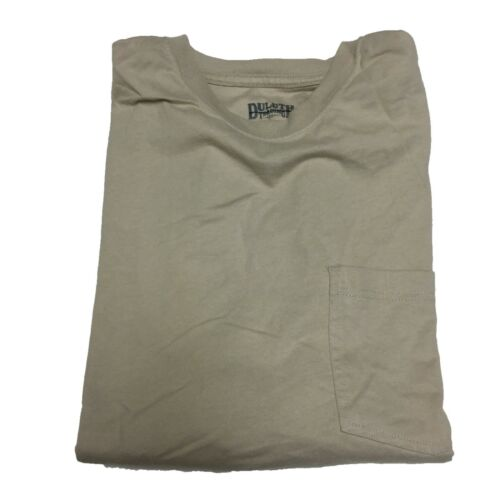 Duluth Trading Mens Longtail T Shirt Short Sleeve Cotton Crew Neck Pocket Tee