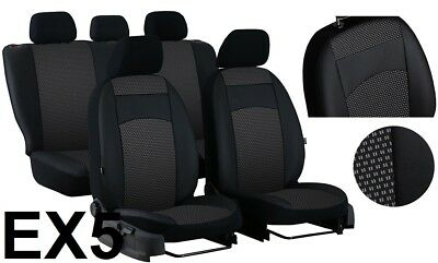 VW CRAFTER 2006-2016 ECO LEATHER /& ALICANTE TAILORED SEAT COVERS MADE TO MEASURE