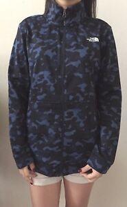 Bleu Jacket Zip 191163119255 Rétro Cinder Camo Face Polaire 100 North M The Femmes Full Nouvelles Sz 47qXx