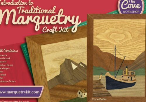Clyde Puffer Marquetry Kit By The Cove Workshop