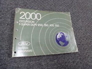 2000 Ford Excursion Electrical Wiring Diagram Manual XLT Limited 5.4L 6.8L    eBayeBay