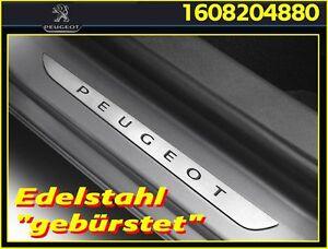 Original-PEUGEOT-208-5-tuerer-2008-Einstiegsleisten-2-tlg-Edelstahl-gebuerstet