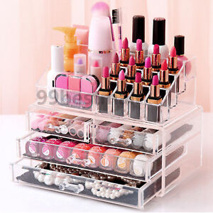 Large acrylic makeup organizer uk