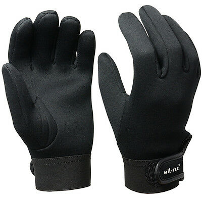 Black NEOPRENE GLOVES - All Sizes - 3mm Cold Wet Winter Weather Wetsuit Fishing
