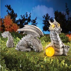 Perfect Image Is Loading Solar Powered Dragon Garden Sculpture Yard Art Dragons