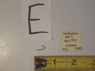 12 14 16  Partridge Hooks Partridge Hooks SH-1 WET Fly Tying Hooks 8 10
