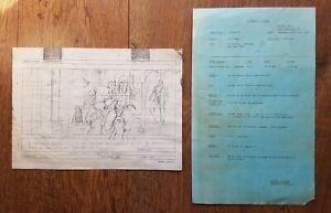 Superman (1978) Original Production Storyboard & Paperwork Prop Reeves Costume