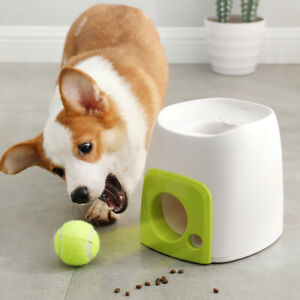 Dog-Training-Thrower-Ball-Interactive-Toys-Tennis-Launcher-Pet-Food-Reward-Toy
