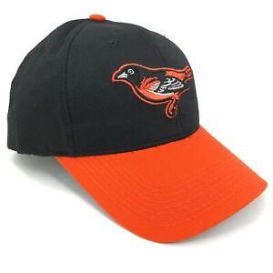 Baltimore-Orioles-Oc-Sports-o-S-Beisbol-Tapa-Negro-Tira-Trasera-Naranja-Curvo