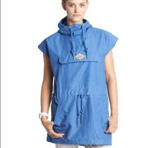 Woolrich-Women-039-s-Waxed-Heritage-Mariah-Poncho-Blue-Size-SMALL-NWT