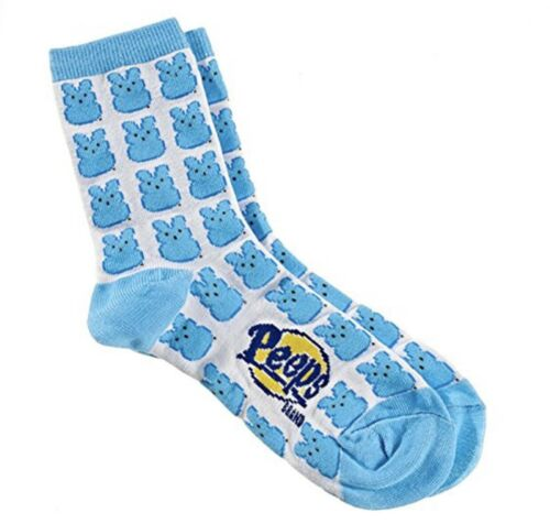 See Label For Shoe /& Sock Size Info 1X Peeps Blue Bunny Themed Socks; SMALL