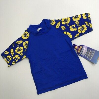 Sunskinz Bathing Suit Top Rashguard Shirt Boys Size S OR M New w Tags Hawaii