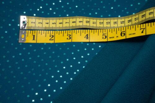 Softshell mini Sterne petrol metallic Foliendruck auf dunkelpetrol  0,5m