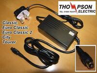 Battery Charger For Thompson Euro Classic 2 Electric Bike Also City & Tourer