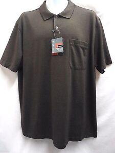 Van-Heusen-Traveler-Luxe-Touch-Short-Sleeved-Polo-Golf-Shirt-XL-Brown-Cocoa-NEW