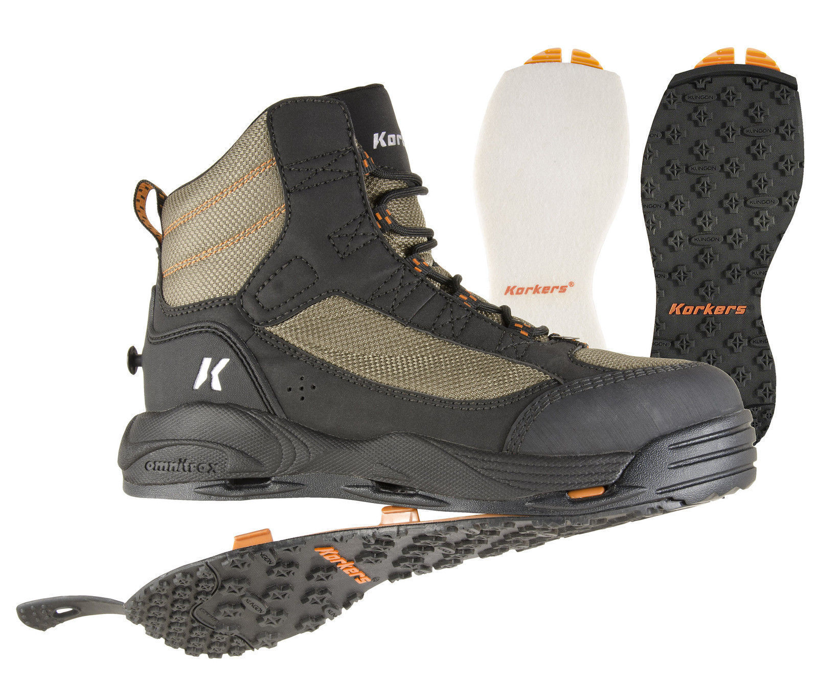 Korkers Wraptr Wading Boot Felt//Kling On Soles Closeout Multiple Sizes