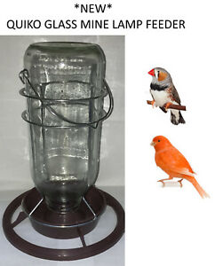 NEW-QUIKO-1LTR-HANGING-GLASS-MINE-LAMP-CANARY-FINCH-FEEDER-DRINKER-SEED-400675
