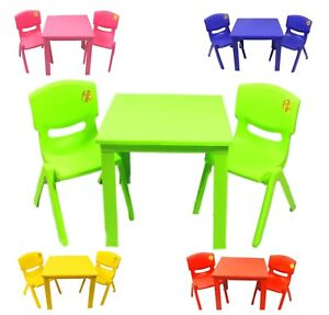 Image Is Loading Childrens Kids Plastic Folding Table And Chairs Nursery