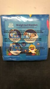 NEW! Baby Shark Kids Weighted Blanket, 4.5lb, 36 x 48, Fountain of Tooth
