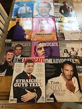 THE ADVOCATE NATIONAL GAY & LESBIAN MAGAZINE - 2009 COMPLETE SET ALL 11 ISSUES
