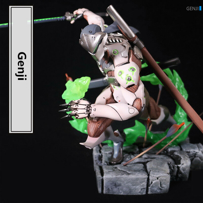 7 Overwatch OW 1 10 Genji Figure PVC Decoration Figurines Statue Toy Model Gift