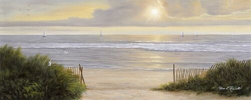 Summer Moments II Diane Romanello Coastal Ocean Beach Panel Print Poster 32x14