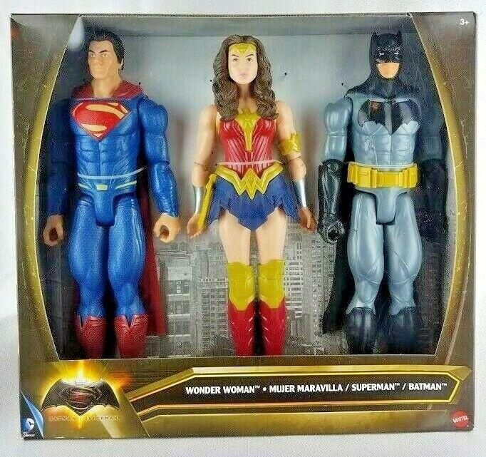 DC Comics Batman súperman Mujer Maravilla Figura de acción paquete de 3