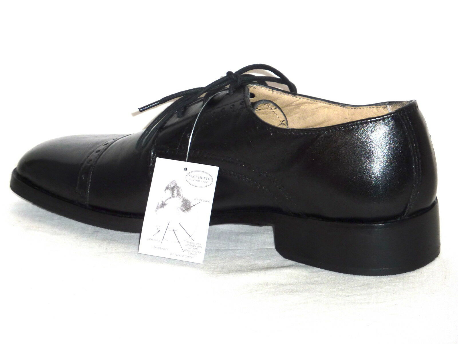 Herrenschuhe anschnallen schwarzes Leder elegant mode komfortabel n. 41