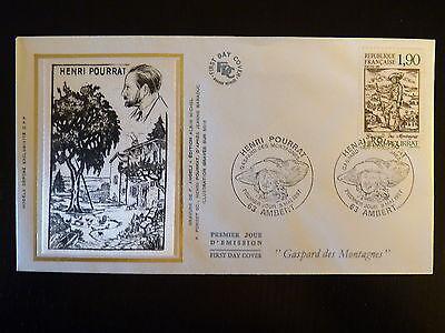 Stamps Lovely France Premier Jour Fdc Yvert 2475 Henri Pourrat 1,90f Ambert 1987