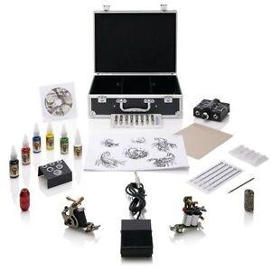 Tattoo machine gun kit professional beginners starter home for Starter tattoo kits