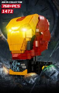 Iron-Man-MK24-Helmet-Custom-768pcs-Build-Collector-039-s-Edition-USA-SELLER