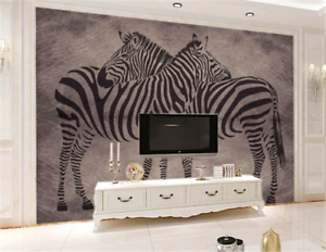 3D Zebra Pattern 994 Wallpaper Mural Paper Wall Print Wallpaper Murals UK
